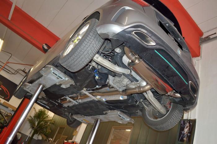 76mm Duplex-Anlage mit Klappensteuerung für Mercedes W176 A-Klasse