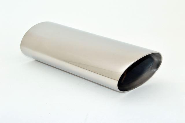 Endrohr 77x124mm oval abgeschrägt breite Kante