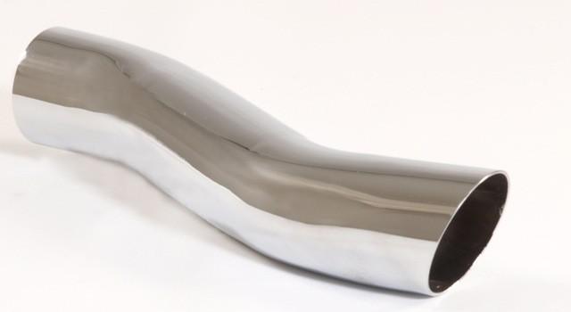 Endrohr 60mm rund scharfkantig S-Form