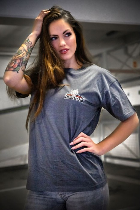 T-Shirt STREETBEAST grau Gr. L