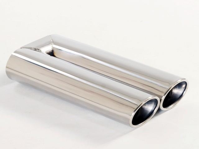 Endrohr 2x70x85mm oval gebördelt abgeschrägt