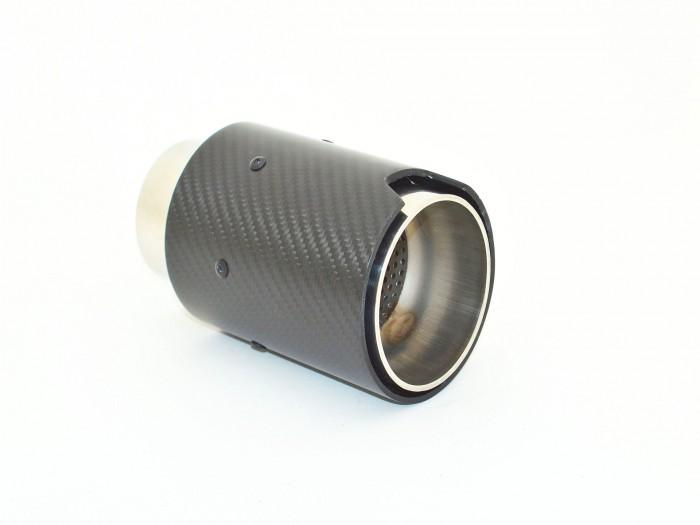 Endrohr 90mm rund Carbon