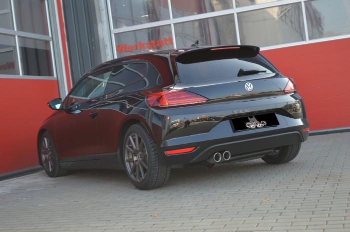 76mm Single-Anlage mit Klappensteuerung für VW Scirocco III