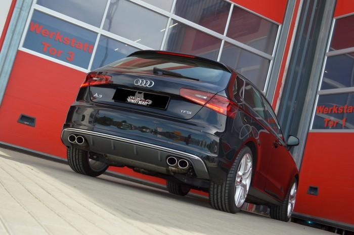 76mm Duplex-Anlage mit Soundgenerator für Audi A3 8V 3-Türer Frontantrieb
